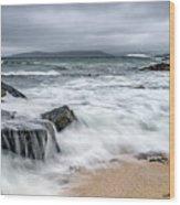 Wild Weather At Geodha Mhartainn On The Isle Of Harris Wood Print