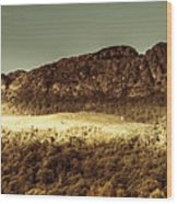 Wild West Mountain Panorama Wood Print