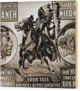 Wild West Poster Wood Print