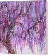 Wild Wisteria Wood Print