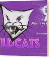 Wildcat 90 Logo Semi Comp4 Wood Print