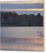 Wilde Lake At Sunset Wood Print