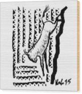 Wildebeest Wood Print