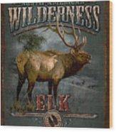 Wilderness Elk Wood Print by JQ Licensing
