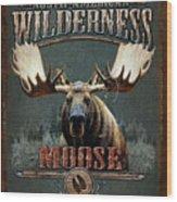 Wilderness Moose Wood Print