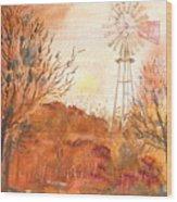 Wilderness Windmill Wood Print