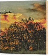 Wildfire C-130  Wood Print
