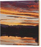 Wildfire Sunset 1v  Wood Print