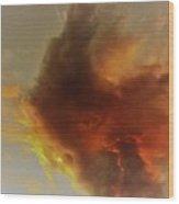 Wildfire Sunset Wood Print