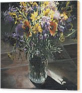 Wildflower Bouquet II Wood Print