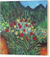 Wildflower Garden 1 Wood Print