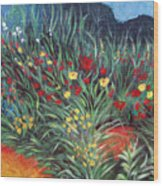 Wildflower Garden 2 Wood Print
