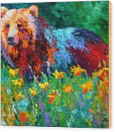 Wildflower Grizz II Wood Print