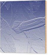 Wildflower In Blue Wood Print