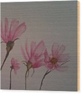 Wildflower Pink Wood Print by Ginny Youngblood