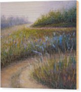 Wildflower Road Wood Print