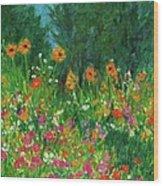 Wildflower Rush Wood Print