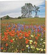 Wildflower Wonderland 5 Wood Print