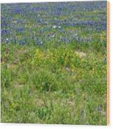 Wildflowers - Blue Horizon Three Wood Print