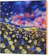 Wildflowers 67 Wood Print