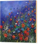 Wildflowers 78 Wood Print