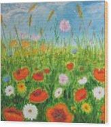 Wildflowers Field Wood Print