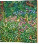 Wildflowers Near Fancy Gap Wood Print