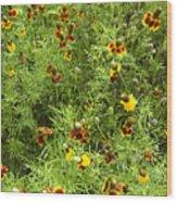 Wildflowers Nine Wood Print