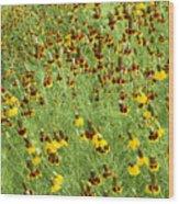Wildflowers One Wood Print