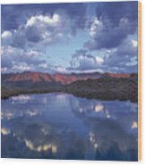 Wildhorse Lake Wood Print