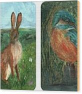 wildlife Quartet Wood Print