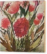 Wildly Red Wood Print