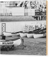 Wildwood Rescue Boats Wood Print