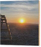 Wildwood New Jersey - Peaceful Morning Wood Print