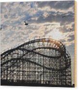 Wildwood Roller Coaster Wood Print
