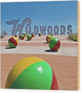 Wildwood's Sign, Wildwood, Nj Boardwalk . Copyright Aladdin Color Inc. Wood Print
