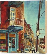Wilensky's Corner Fairmount And Clark Wood Print