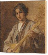 Wilhelm Amardus Beer, Portrait Of A Musician Boy Wood Print