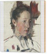 Wilhelm Leibl 1844 - 1900 German Bauernmadchen Farm Girl Wood Print
