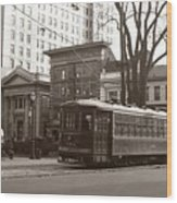 Wilkes Barre Pa Public Square Oct 1940 Wood Print
