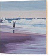 Will Rogers Beach Wood Print