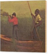 Will Schuster And A Black 1876 Wood Print