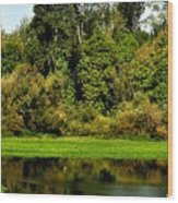 Willamette River Reflections 3813 Wood Print