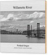 Willamette River Wood Print