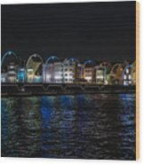Willemstad Curacao At Night Wood Print
