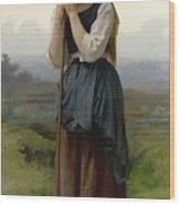 William Bouguereau 1825-1905 French Petite Bergere Wood Print