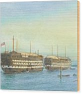 William Frederick Mitchell , H.m.s. Excellent And H.m.s. Calcutta In Portsmouth Harbour, 1897 Wood Print