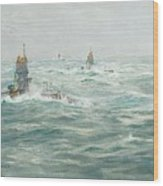 William Lionel Wyllie, Submarines In The Channel Wood Print
