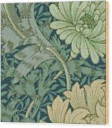 William Morris Wallpaper Sample With Chrysanthemum Wood Print