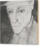 William S. Burroughs Wood Print
